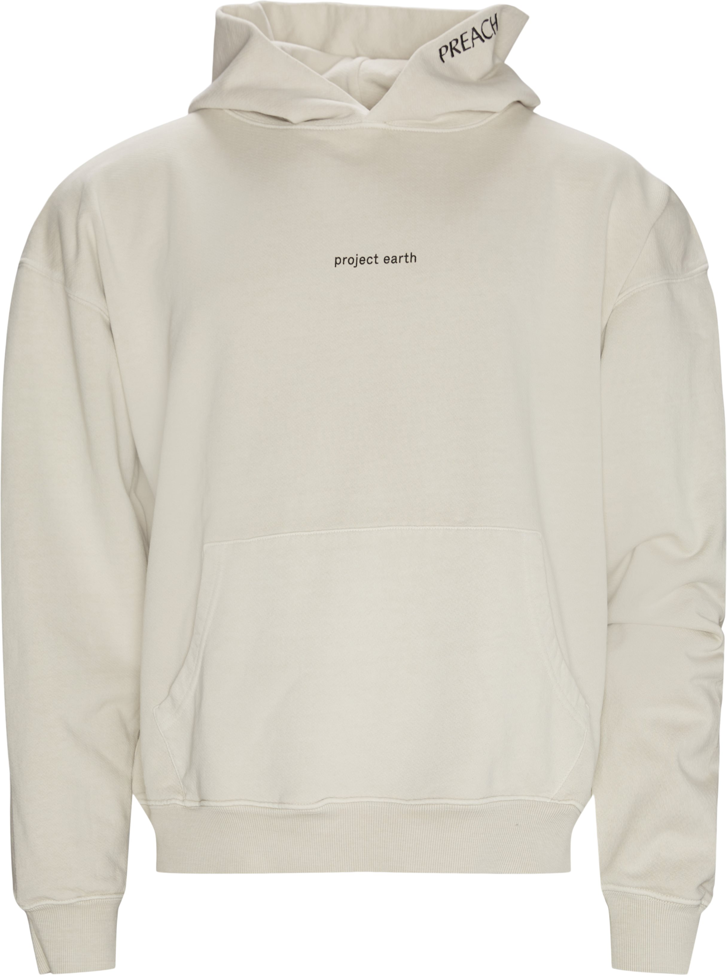 Oversized project earth hoodie - Sweatshirts - Oversize fit - Hvid